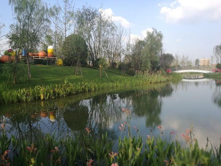 成都大熊猫基地旁gugu农庄小院(A栋)
