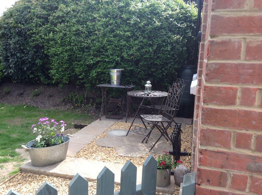 Terrace in garden
