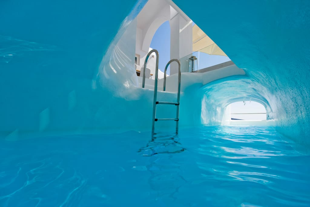 Private Heated Cave Style Pool
