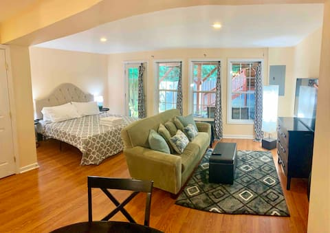 Studio apartment w/king bed and kitchenette!!!