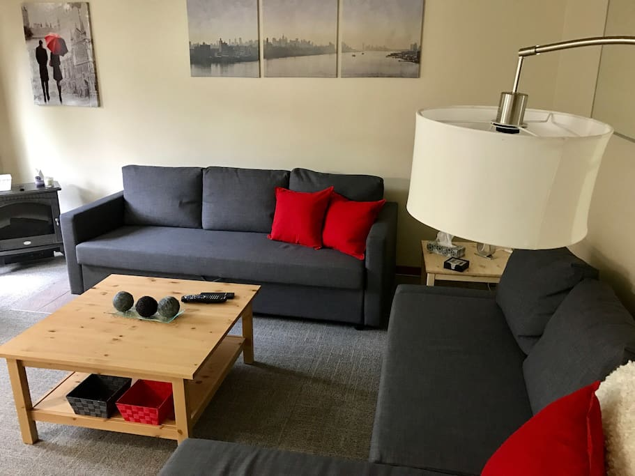 2 sofas that convert in bed