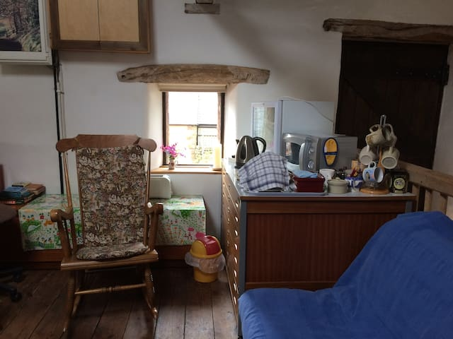 The loft at Scalehouse farm near Renwick Cumbria