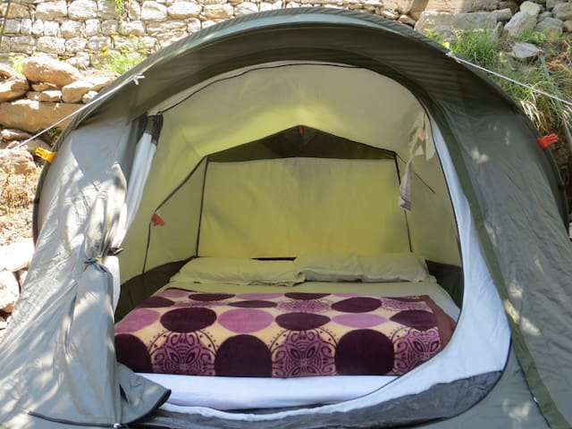 A Private tent with washroom in tirthan valley