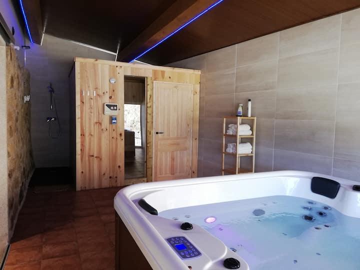 casa peña dura con spa y sauna