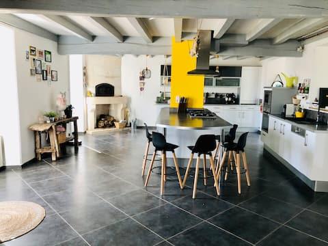 Grande maison familiale + jardin Marais Poitevin