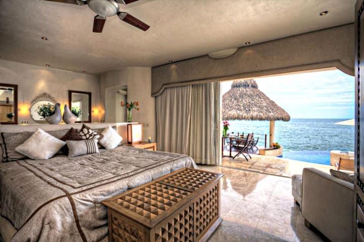 Luxury Oceanfront Villa with Full Staff