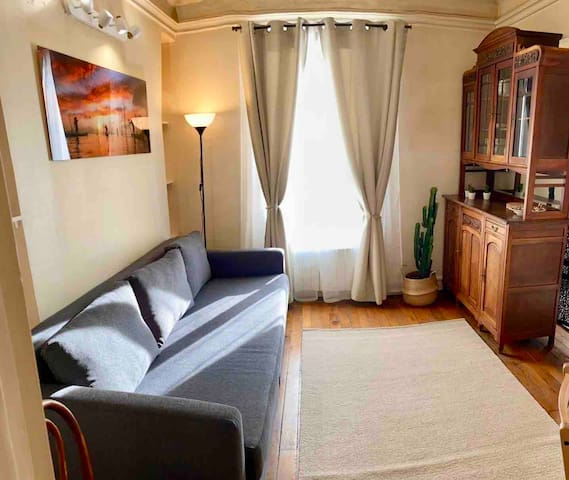 Authentic and bright flat in the center of Paris
