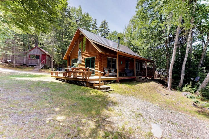 Dog-friendly lakefront log cabin w/ peaceful atmosphere, dock & boat launch!