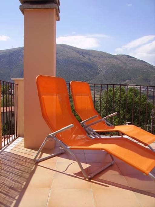 Relax on the superb roof terrace with 360 degree view