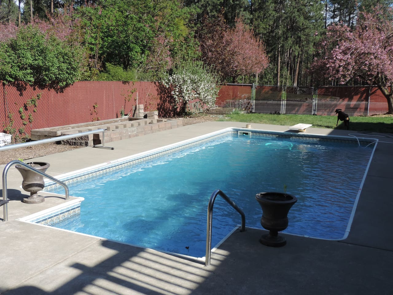 Pool open during summer months
