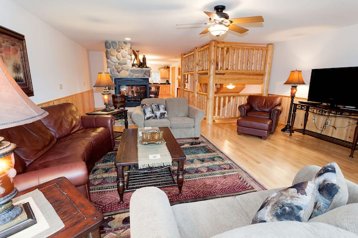 Cozy, waterfront townhome w/ a fireplace, private patio, & shared boat docks