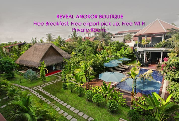 Garden View Room+Breakfast+Free Airport Transfer - Krong Siem Reap - Boutique hotel