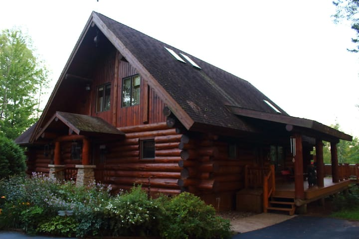 Experience a REAL Log Home in a Beautiful Setting