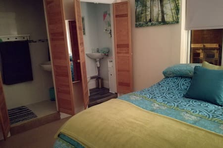 Double ensuite room with maserator toilet,