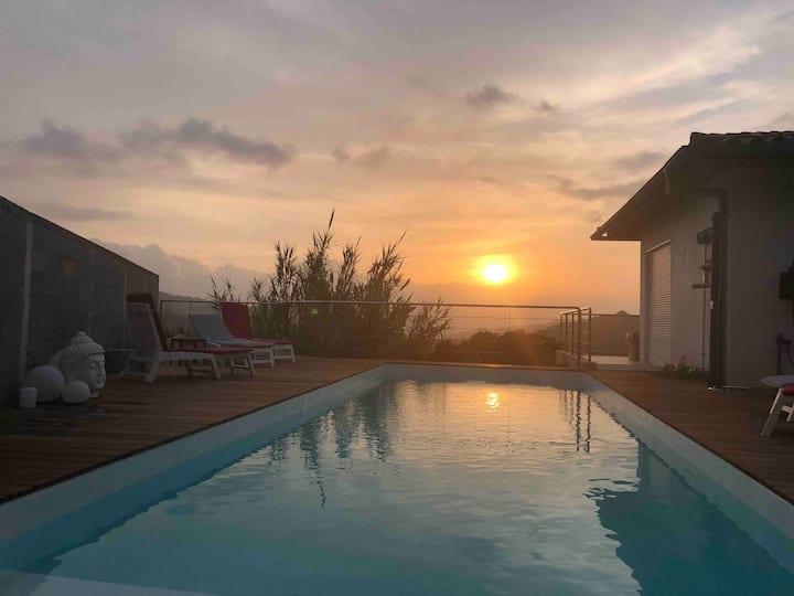 proche Ajaccio - Villa avec piscine