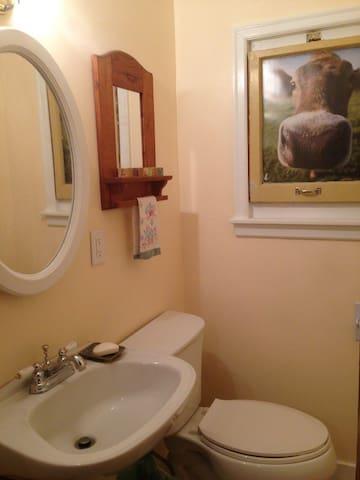 Half bath on the main level