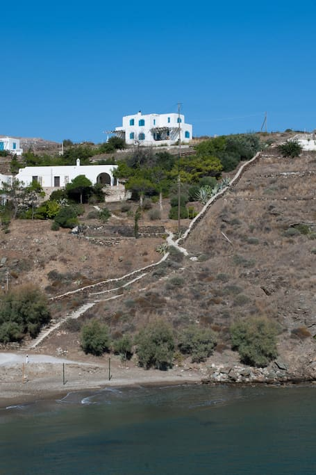 The house from the Ampela beach