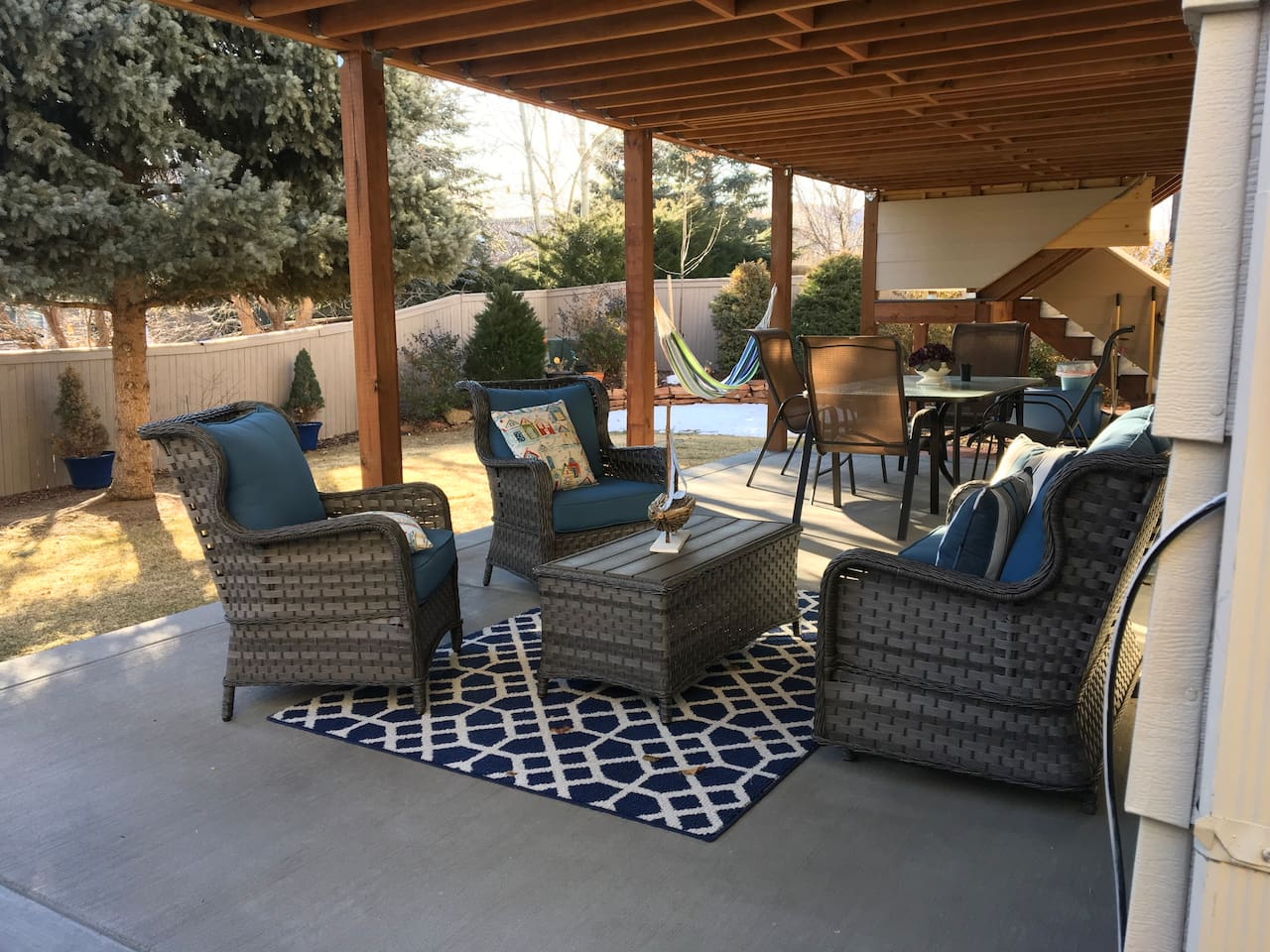 VIEW OF BACK PATIO