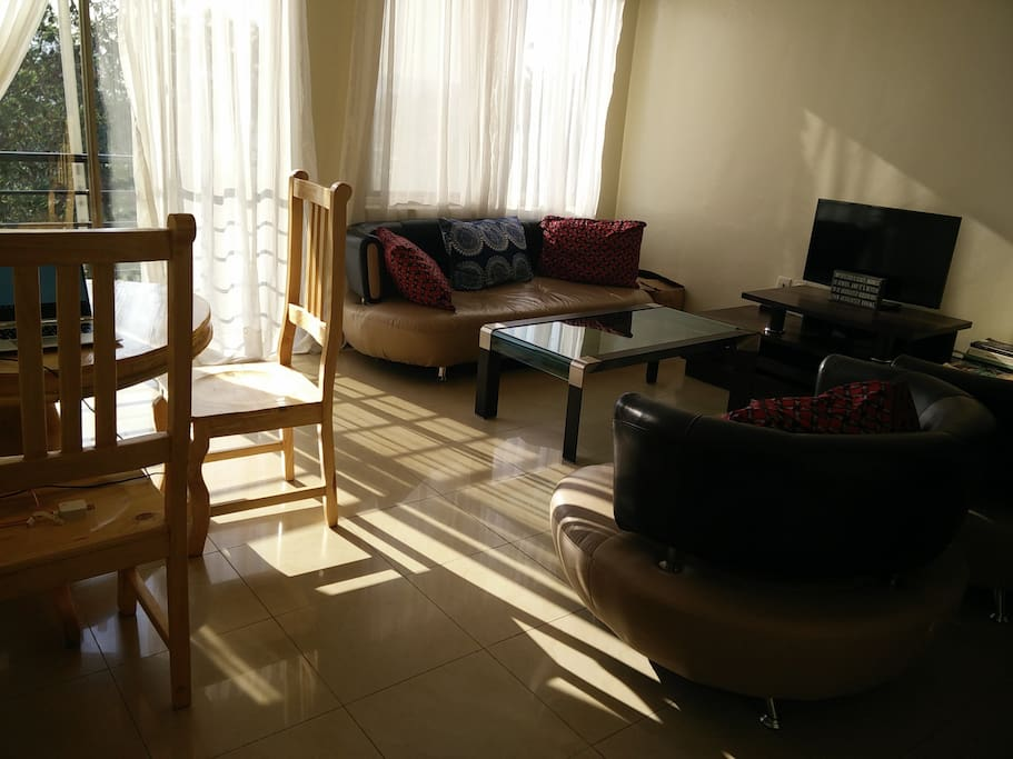 Living room with lots of sunshine