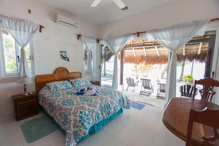Bedroom#2 steps directly out onto the beachside patio