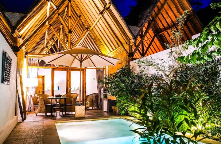 NEW - Amazing Bambu Huts with private pool