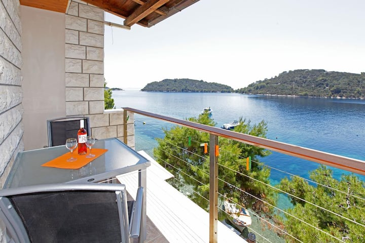 One bedroom apartment near beach Karbuni, Korčula (A-18137-d)
