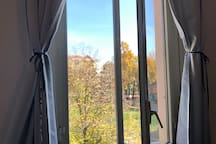 View on the park from the living room
