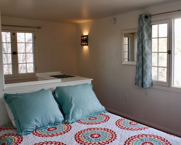 One bedroom Casita, Queen size bed, Patio, kitchen, dining, living area, washer & dryer