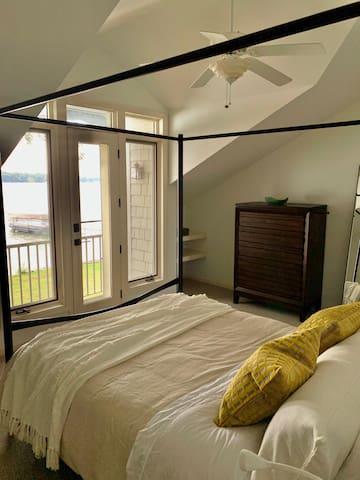 More amazing lake views from bedroom 2, with luxury en-suite bathroom.