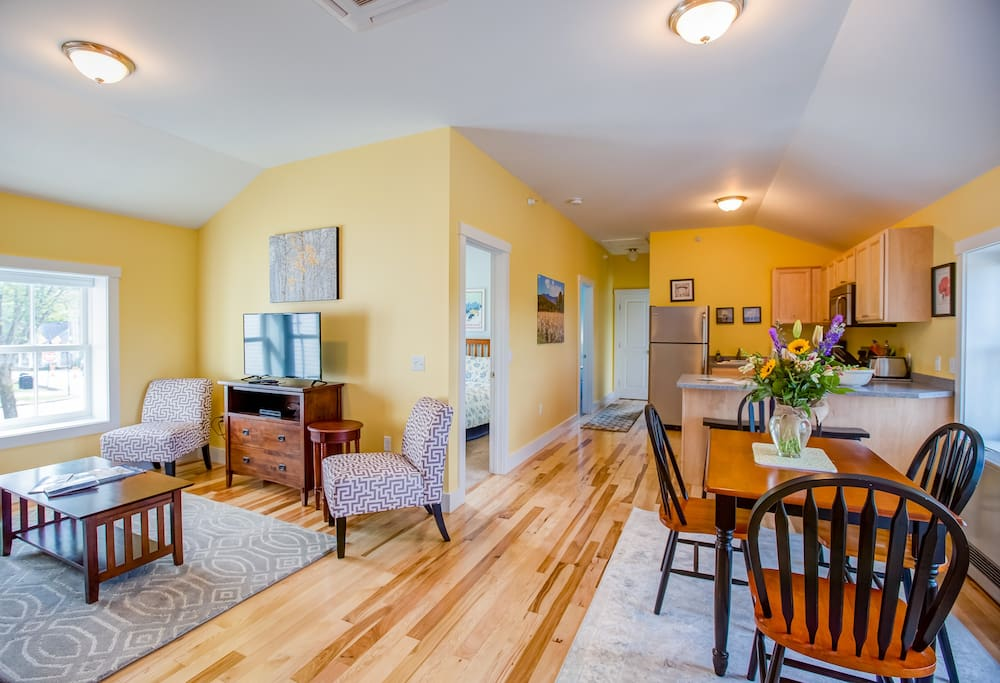 Welcome to the Spruce Suite!  Open space floor plan, perfect for socializing and spreading out.