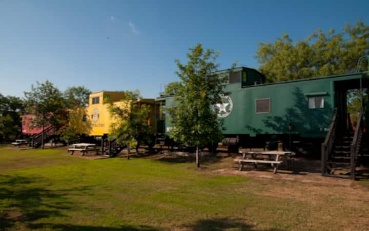 """Train Car at The Antlers Inn """"Green Caboose"""""""