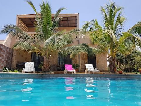 """Keur Seynabou"", single oceanfront villa."