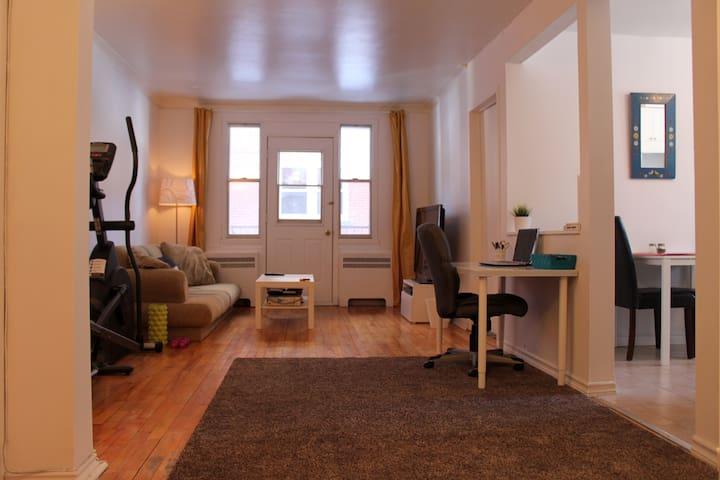 Bel appartement lumineux au centre de Montréal - Montreal - Apartamento