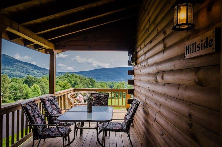 ✧Hillside Log Cabin - way up in WV ski country