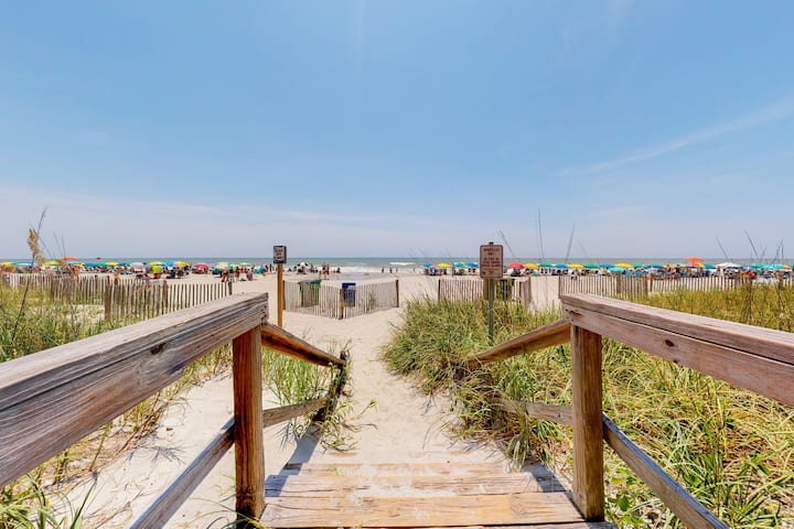 New listing! Beautiful & spacious home located across the street from the beach!