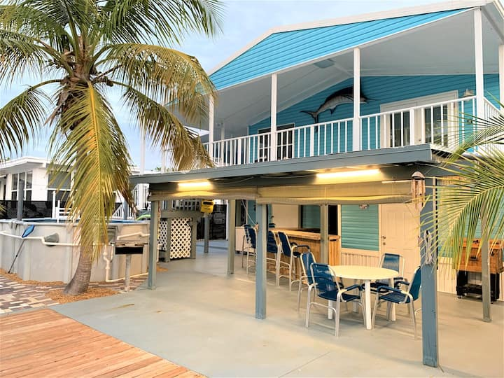 Blue Marlin 2/2 Pool home with 37` Dock Easy Access to Atlantic