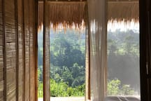 Our barely there mosquito net lets you see the view from within.
