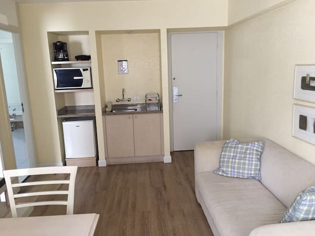 Furnished flat with room cleaning
