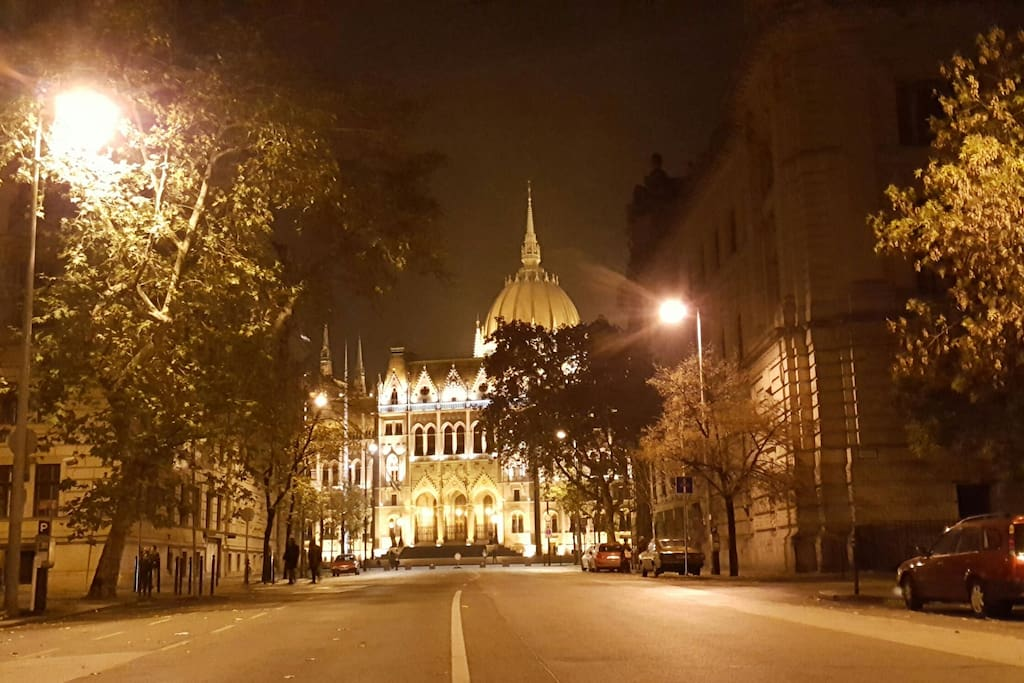Your view in every night. You can not be closer to the Parlament.