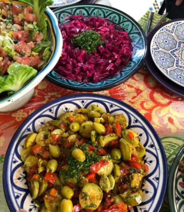 Selection of moroccan starters