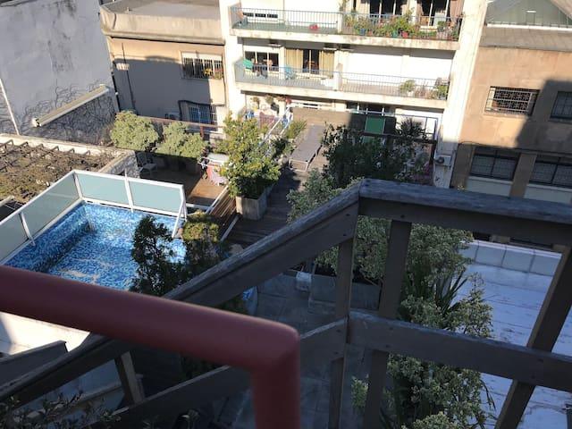 Rooftop Garden Premium Studio (Pool & Barbacue)