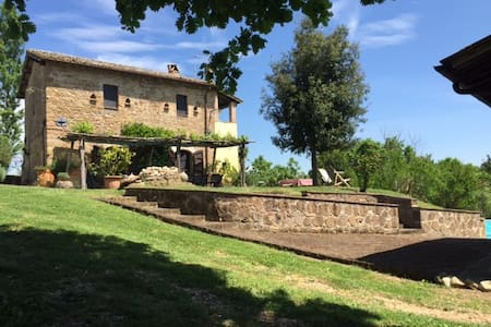 Great Rome countryside villa + pool and guesthouse - Collevecchio - Huvila