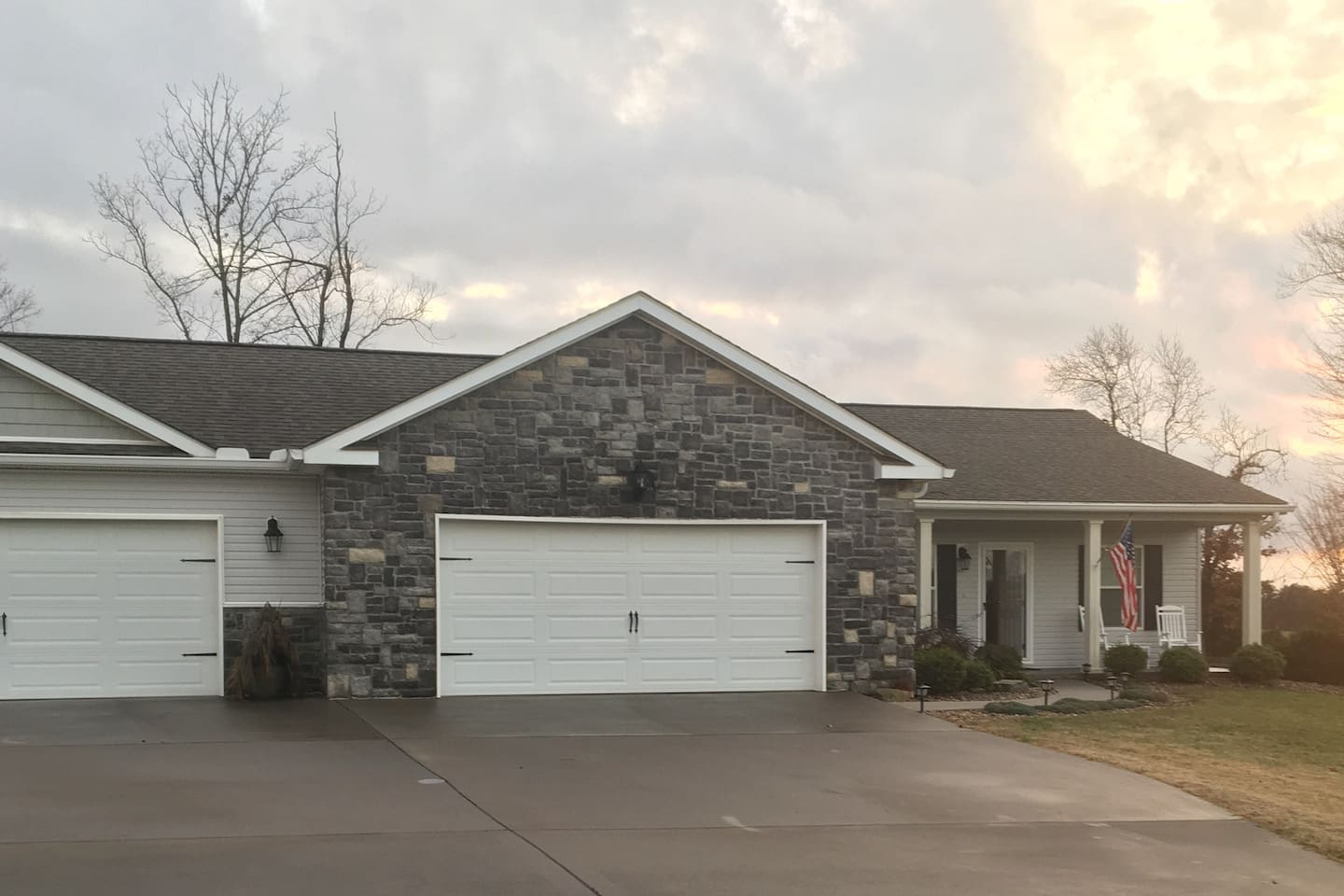 Three bedroom/ two bath house with a full two car garage accessible to guests. Second garage is locked and private for owner.