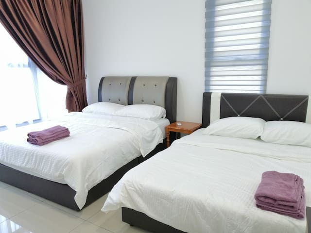 Clean&Comfort#2QueenBeds#AtlantisResidence#4Person