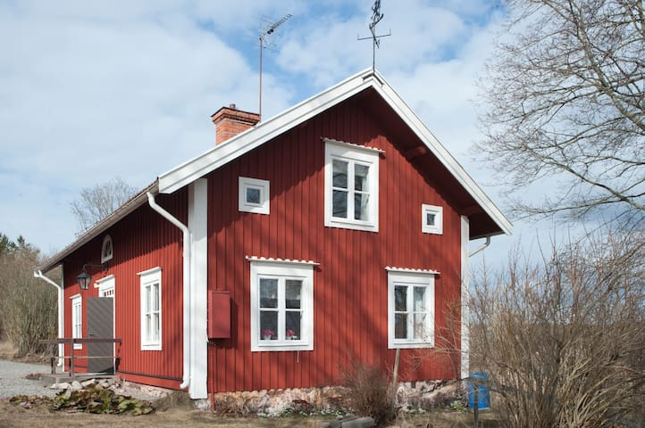 Countryside House - 1h Stockholm - Blacksta - 통나무집