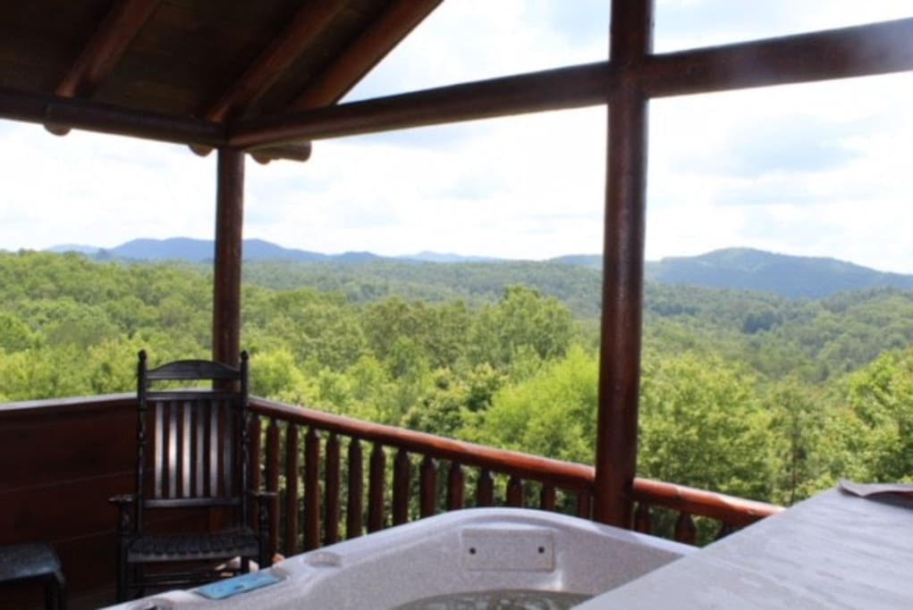 Mountain view from hot tub