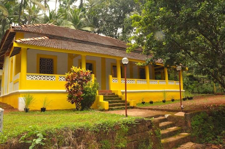 3 Bedroom Goan Villa near Galgibag & Polem beaches