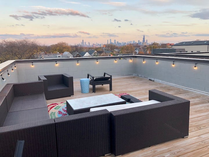 Logan Square Penthouse with City skyline views