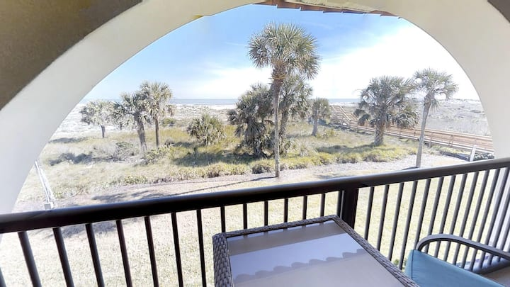 Ponce Landing 5 - Ocean front 2 bedroom townhome with garage - 2 pools (1 heated) and beach access.  Rates Reduced!