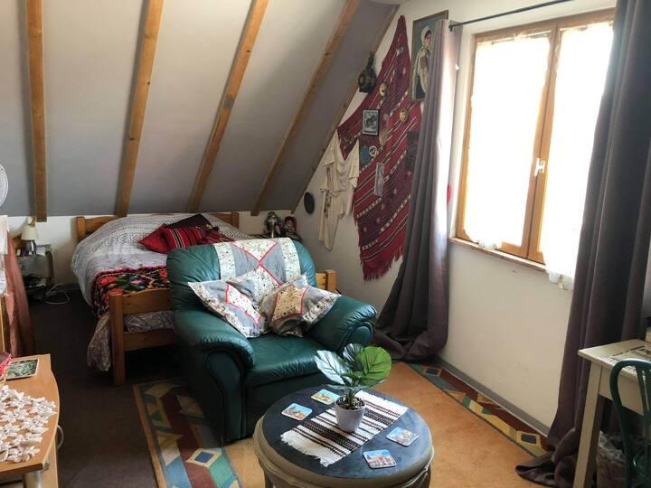 Chambre pour 2 à 5 personnes au cœur de l'Alsace
